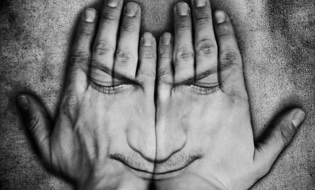 face-in-hands